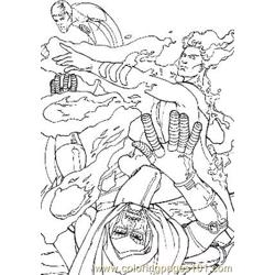 Fantastic Four19 Free Coloring Page for Kids