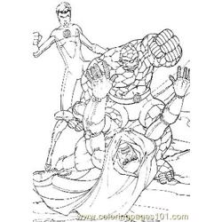 Fantastic Four20 Free Coloring Page for Kids