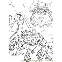Fantastic Four22 Free Coloring Page for Kids