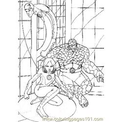 Fantastic Four23 Free Coloring Page for Kids