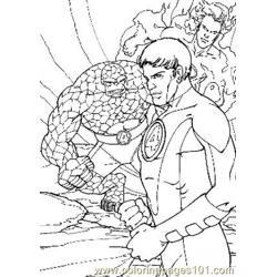 Fantastic Four25 Free Coloring Page for Kids