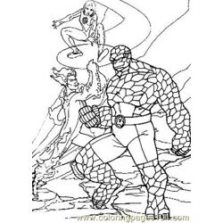 Fantastic Four40 Free Coloring Page for Kids