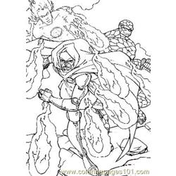 Fantastic Four44 Free Coloring Page for Kids