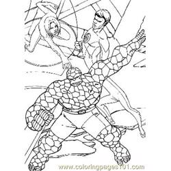 Fantastic Four45 Free Coloring Page for Kids