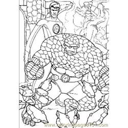 Fantastic Four47 Free Coloring Page for Kids