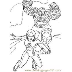 Fantastic Four48 Free Coloring Page for Kids