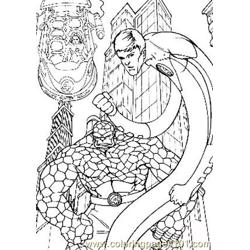 Fantastic Four49 Free Coloring Page for Kids