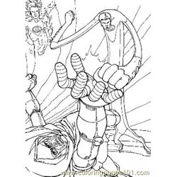 Fantastic Four4 Free Coloring Page for Kids