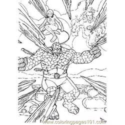Fantastic Four50 Free Coloring Page for Kids