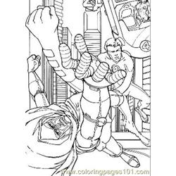 Fantastic Four53 Free Coloring Page for Kids