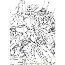 Fantastic Four5 Free Coloring Page for Kids