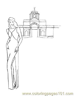 Fashion103 Coloring Page