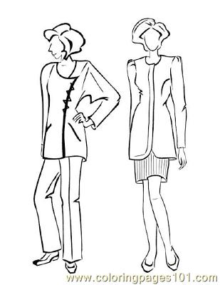 Fashion129 Coloring Page