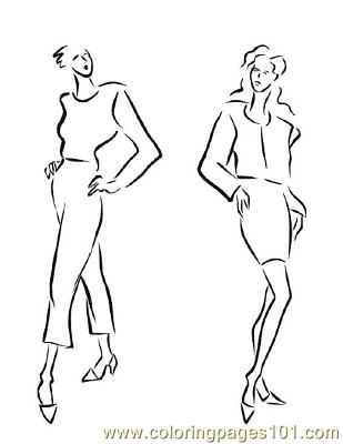 Fashion139 Coloring Page