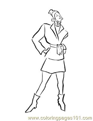 Fashion146 Coloring Page
