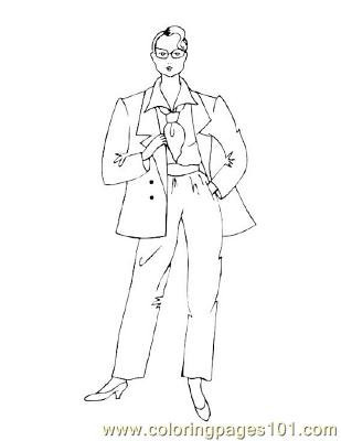 Fashion14 Coloring Page