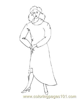 Fashion25 Coloring Page