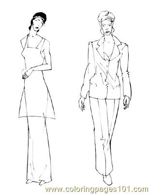 Fashion44 Coloring Page