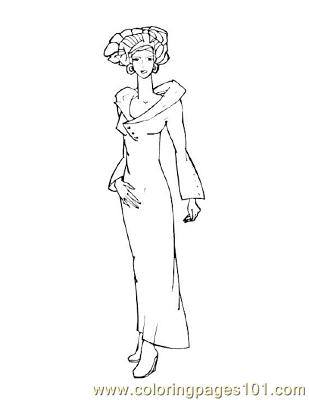 Fashion45 Coloring Page