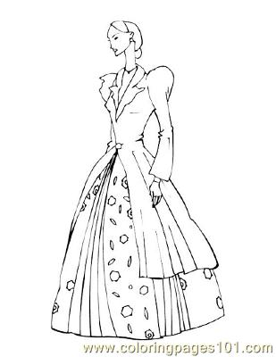 Fashion66 Coloring Page Free Fashion Coloring Pages