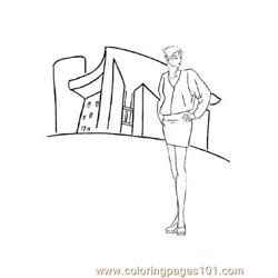 Fashion110 Free Coloring Page for Kids
