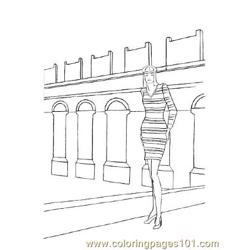 Fashion112 Free Coloring Page for Kids