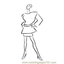 Fashion147 Free Coloring Page for Kids