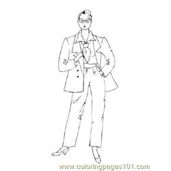 Fashion14 Free Coloring Page for Kids