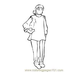 Fashion218 Free Coloring Page for Kids