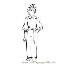 Fashion220 Free Coloring Page for Kids