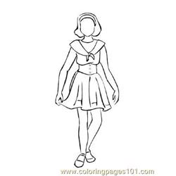 Fashion221 Free Coloring Page for Kids