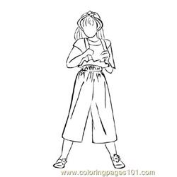 Fashion231 Free Coloring Page for Kids