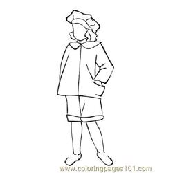 Fashion234 Free Coloring Page for Kids
