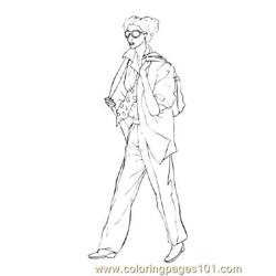 Fashion70 Free Coloring Page for Kids