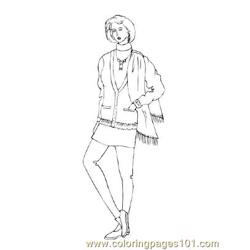 Fashion7 Free Coloring Page for Kids