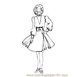 Fashion80 Free Coloring Page for Kids