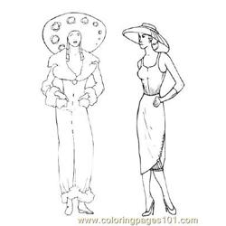 Fashion84 Free Coloring Page for Kids