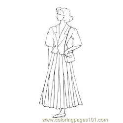 Fashion8 Free Coloring Page for Kids