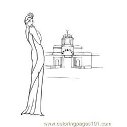 Fashion90 Free Coloring Page for Kids