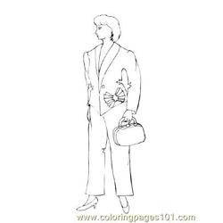 Fashion9 Free Coloring Page for Kids