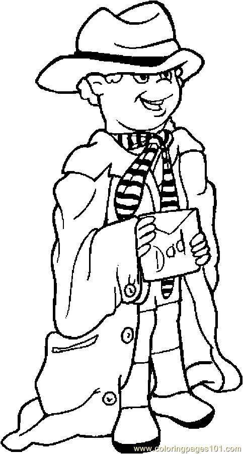 Dress Up For Dad Coloring Page