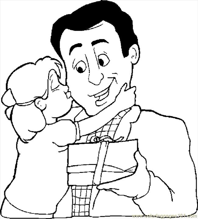 Gift For Dad 5 Coloring Page Free Fathers Day Coloring Pages