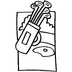 Father   Golf Bag 1 coloring page