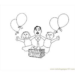 Father's Day Celebration coloring page
