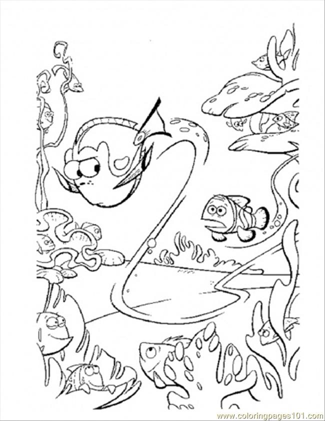 Dory Swim Too Fast Coloring Page