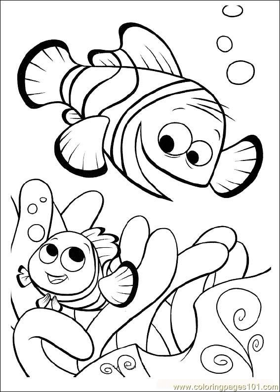 Finding Nemo01 Coloring Page For Kids Free Finding Nemo Printable Coloring Pages Online For Kids Coloringpages101 Com Coloring Pages For Kids