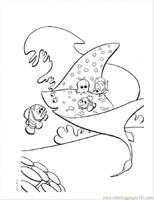 mrray coloring page - Finding Nemo Coloring Pages Bruce