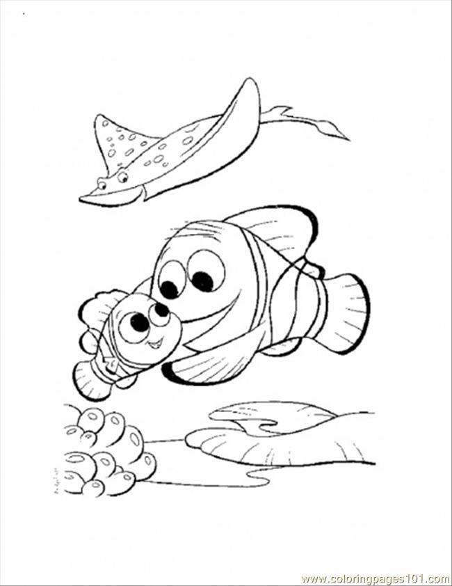 Nemo Coloring Pages Pdf : Nemo and marlin return home coloring page free finding