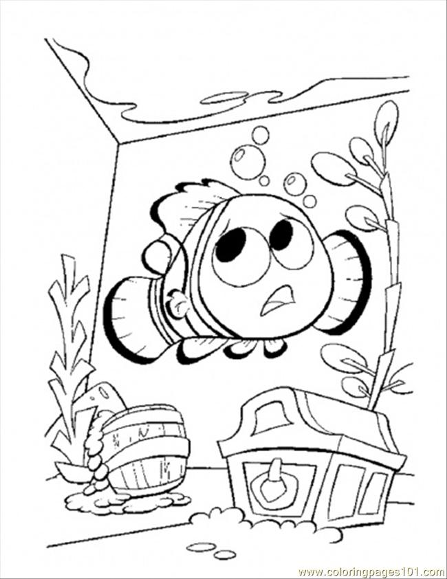 Nemo In The Tank Coloring Page