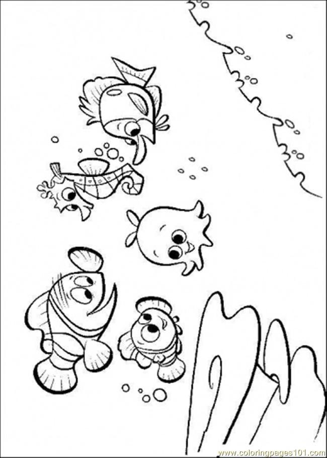 Nemos Friends Coloring Page - Free Finding Nemo Coloring ...